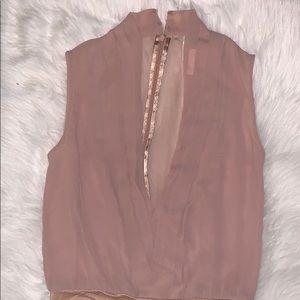 H&M Deep V Bodysuit Blouse Sz 4